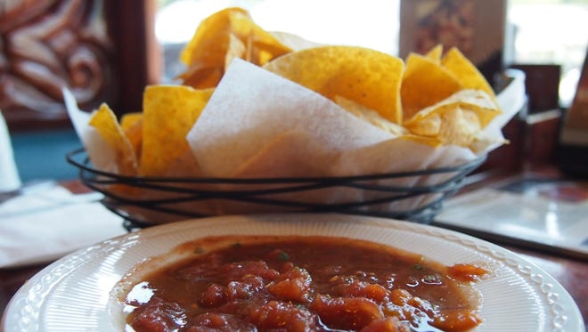 Fresh chips and salsa start every meal at Pueblo Real.