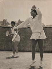 Rosie Casals in action, 1969.