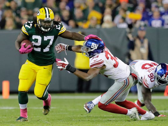 USP NFL: NEW YORK GIANTS AT GREEN BAY PACKERS S FBN USA WI