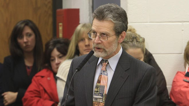 Stephen O. Jambor, president of the Brewster Board of Education, speaking at a January 2014 community forum on the Common Core at Carmel Town Hall in Mahopac. (file photo)