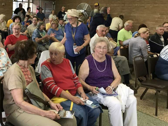 More than 80 neighbors of McCarty Park, West Allis, packed a Thursday, July 26, meeting called to talk about the recent rape in the park and on what is being done to help keep attacks from happening.