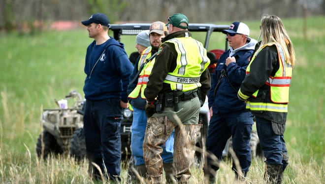 Searchers continue looking in Dickson County for missing 5-year-old Joe Clyde Daniels.Thursday April 5, 2018, in Dickson, Tenn