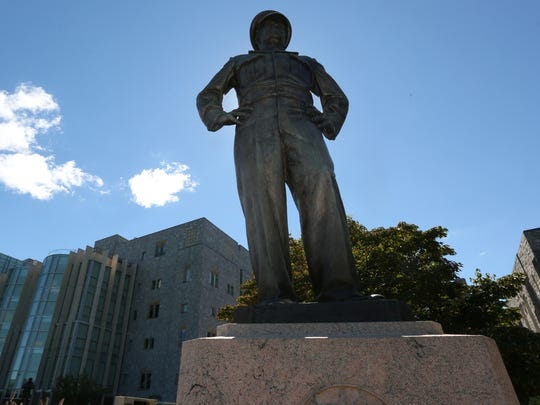 Pres. Eisenhower statue at the United States Military