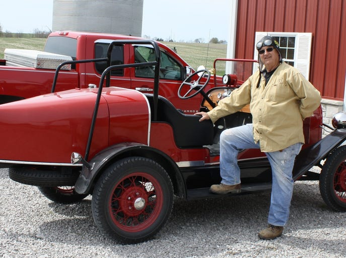 "Don Kloth (pictured) will drive a 1930 Model ""A"" Speedster and Herb Clark will navigate during the 2014 Hemmings Motor News Great Race, a road rally spanning the country's East Coast from north to south."
