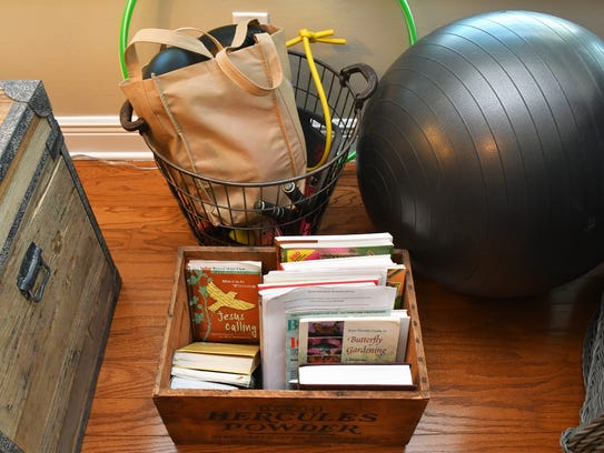 Books, exercise equipment and other things that Mark