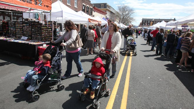 SpringFest, sponsored by the Nyack Chamber of Commerce, draws crowds to downtown.