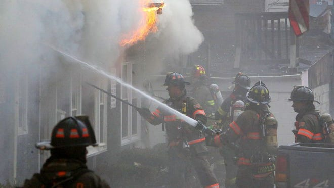 Scenes from the structure fire on Market Street in the Village of Wappingers Falls on February 25, 2020.