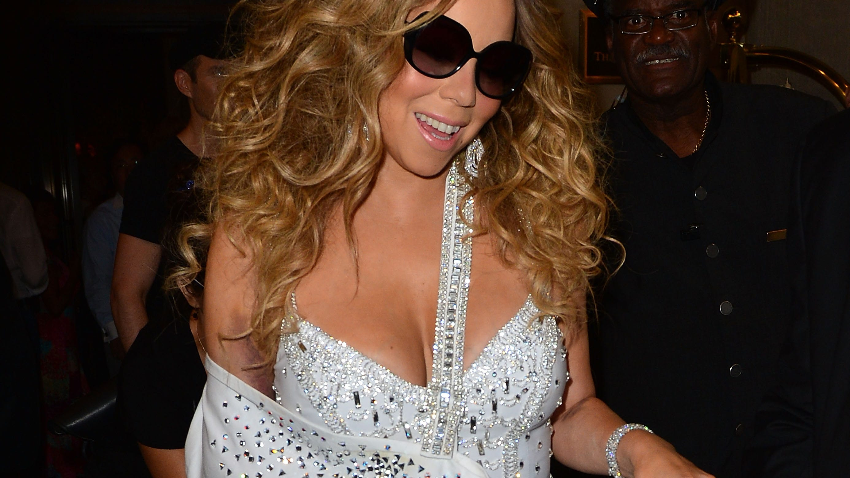 Carey made a bedazzled exit from the Ritz-Carlton on July 12 while out and about in New York.