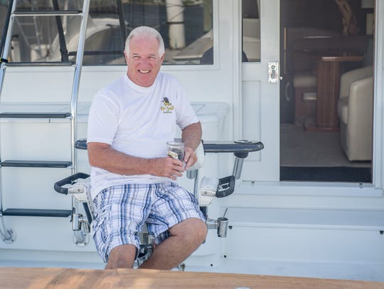 Marvin Steiding relaxes aboard the Reel Candy.