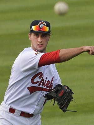 JOURNAL STAR FILE PHOTO Rising Cardinals star Paul DeJong, while with the Peoria Chiefs during the 2015 Midwest League season.