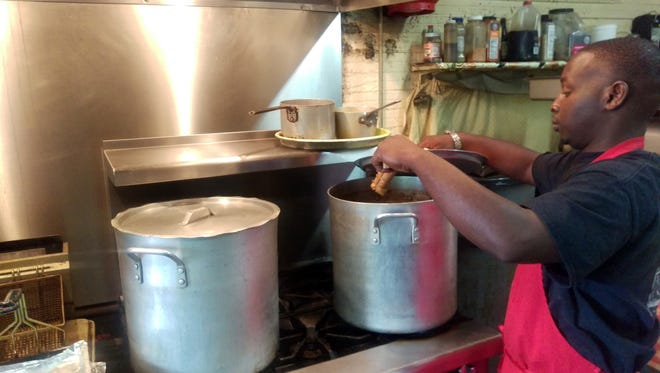 Pots full of delicous Doe's Eat Place tamales in Greenville. Gotta grab a dozen or more if you're close.