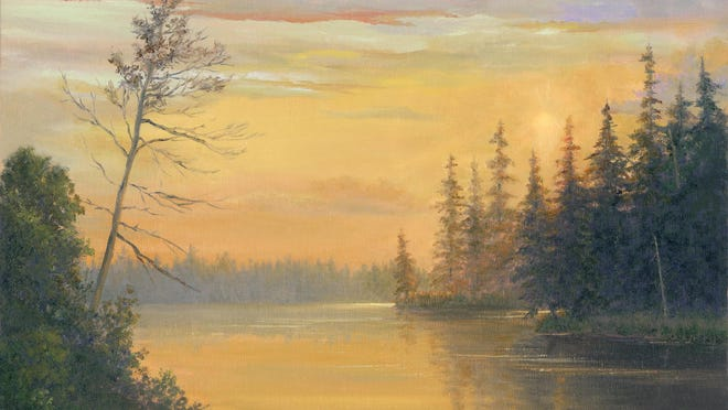 """Dawn of a New Day"" by Tarryl Gabel. Her artwork is included in the Artists' Collective of Hyde Park."