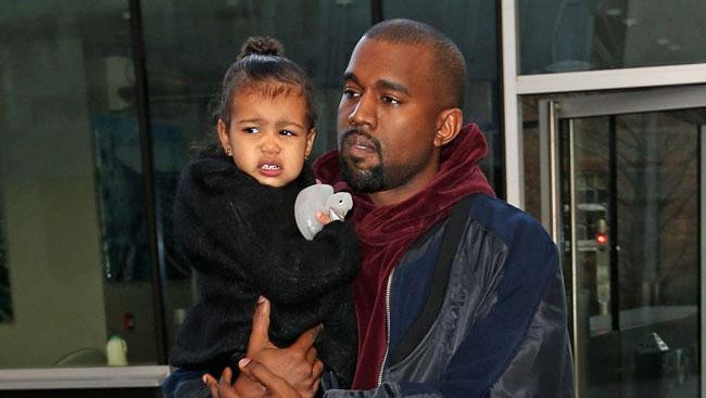 Kanye West with daughter North.