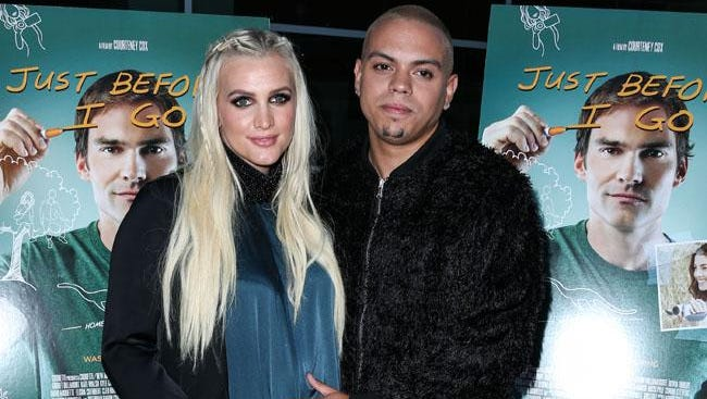 Ashlee Simpson Ross and Evan Ross.