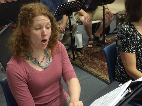 Allison Mills of Colchester sings at a Counterpoint