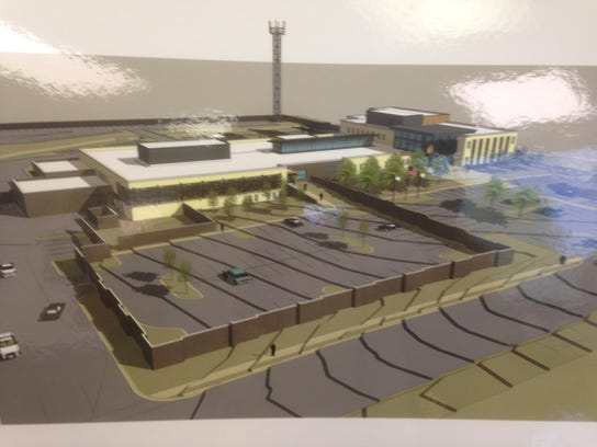 This  rendering for the future Murfreesboro Police
