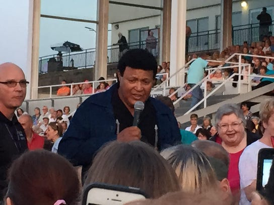 Rock icon Chubby Checker mingled with the crowd — while