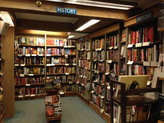 The history section at the Northshire Bookstore.