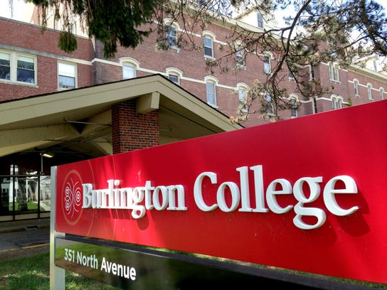 This sign formerly marked the Burlington College campus