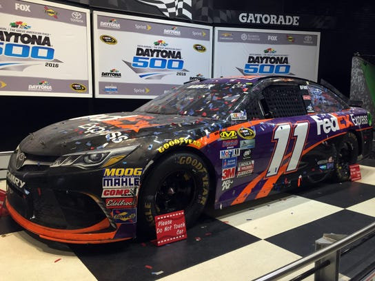 Admire the winning car of the latest Daytona 500 and
