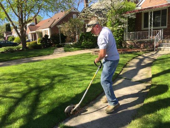 Nick Slanda, CEO of the lawn care service NLS Outdoor