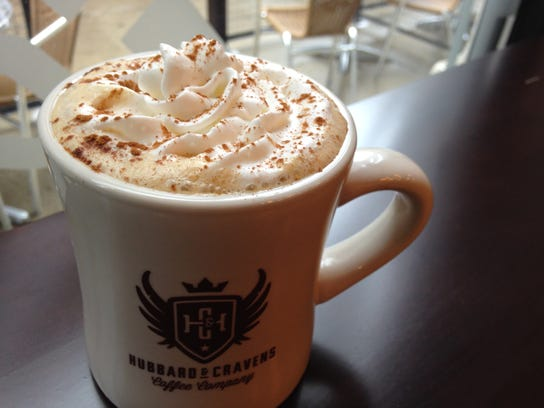 The Pumpkin Pie Latte at Hubbard and Cravens.