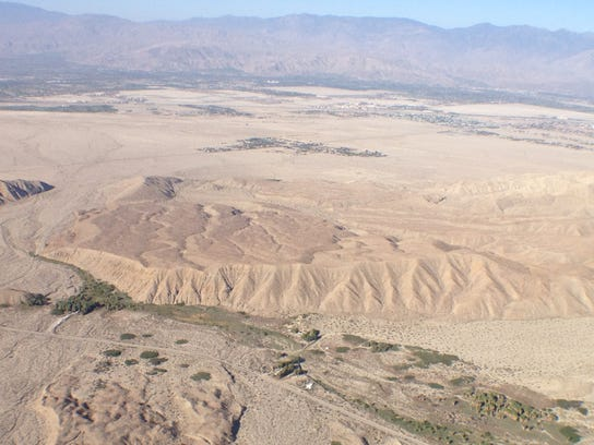 San Andreas Fault aerial photo