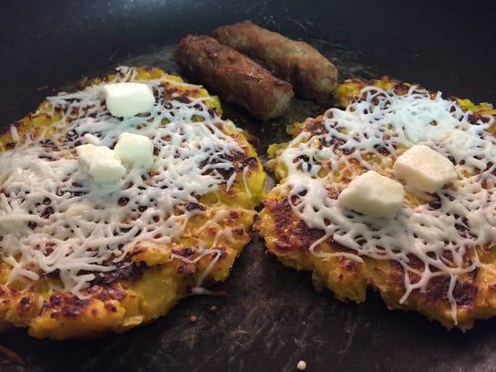 Cachapas are Venezuelan ground sweet corn pancakes.