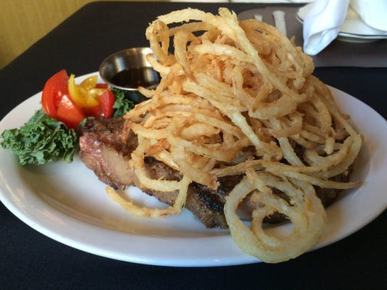 A steak dinner at Michele's Catering & Restaurant.