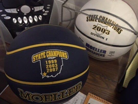 Moeller coach Carl Kremer has a basketball adjacent