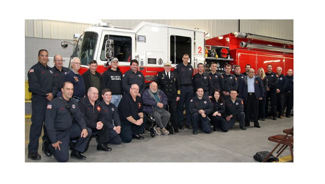More than 50 members, friends and relatives gathered at the South Vineland Fire Company (Vineland Fire Department Station 2) for a dedication ceremony of the newest piece of firefighting equipment, a 2016 KME pumper, on Feb. 7.