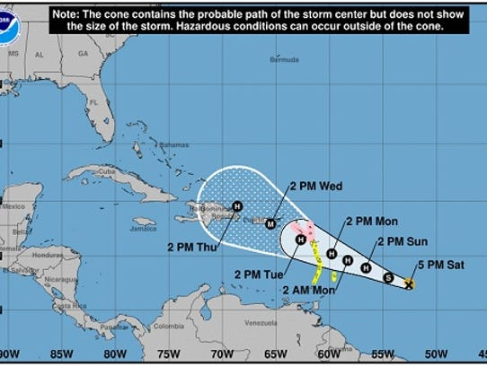 The National Hurricane Center released a forecast on