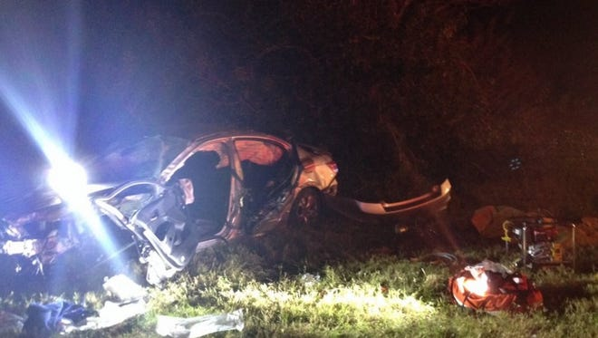 One person was taken by first flight to a local hospital after a wreck on I-95 near Rockledge.