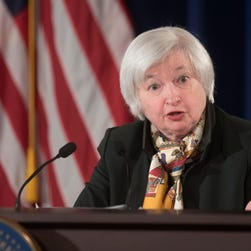 Fed Chair Janet Yellen recent said she would be uncomfortable raising interest rates if a measure of inflation or to weaken further.(AP Photo/Kevin Wolf, File)