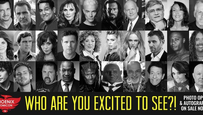 There are many celebrity guests appearing for photo ops and autographs at Phoenix Comicon.