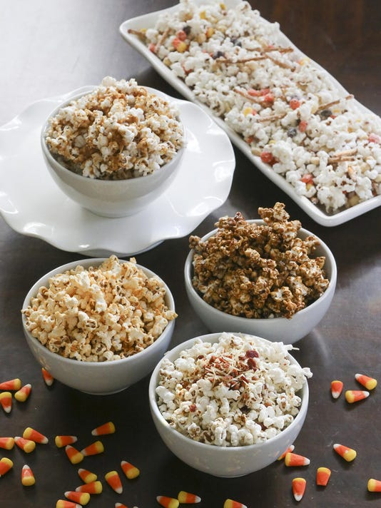 Popcorn disguised in the flavors of fall