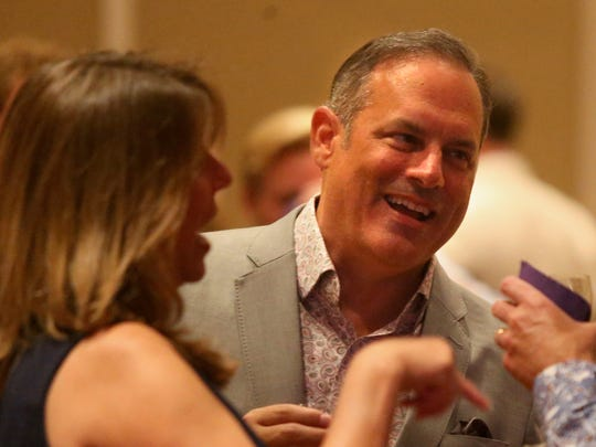 City Commissioner Scott Maddox, left, and Paige Carter-Smith at Greater Tallahassee Chamber of Commerce's 2017 Community Conference at the Omni Amelia Island Plantation August 12.
