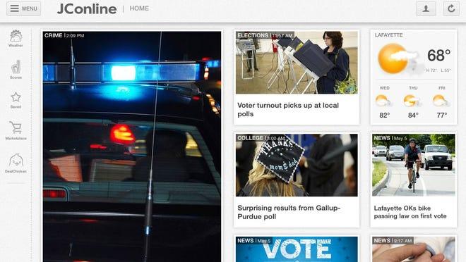 Home screen of the new JConline iPad app