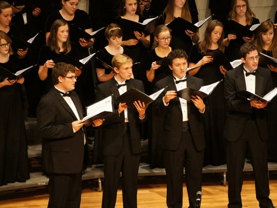 A small group of Youth Chorale of Central Minnesota