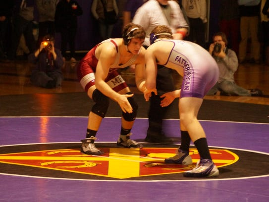 A 2015 Father Ryan vs. Montgomery Bell Academy wrestling