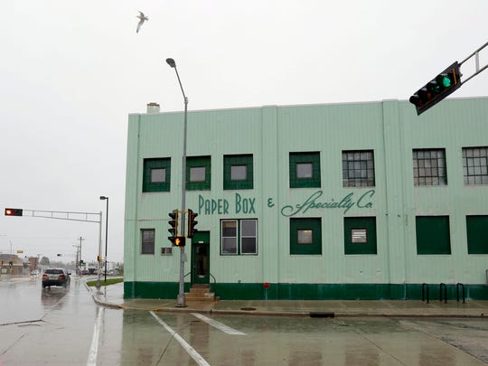 The exterior of Paper Box & Specialty Co. is seen Tuesday,