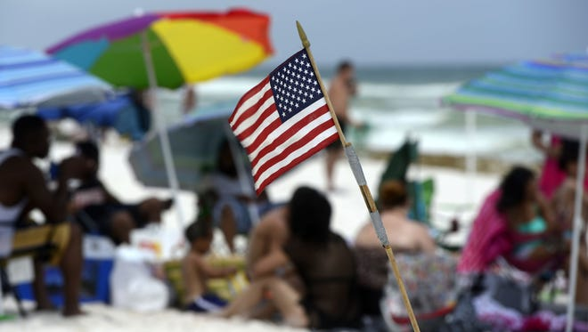 Park East on Pensacola Beach is packed every year during Memorial Weekend as the area welcomes thousands of LGBT tourists for celebrations.