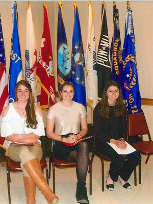 Essays and AADAA Winners in grades 11 and 12, from left, are: Lynn Mooradian of South Western High, Brittany Wolf and Sarah Bolyard-Affeld, both of Kennard-Dale High. Missing from the photo are: Emily Mink of Kennard-Dale High, Rhiannon Mahone of Hanover High and Amanda Buckheit of Kennard-Dale High.