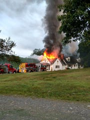 A fire at a home in Gallatin just north of the Dutchess