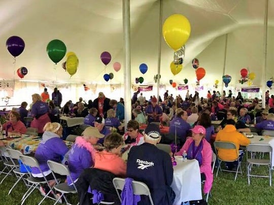 A luncheon for cancer survivors and their caregivers catered by Outback Steakhouse has become a regular part of the Canton Relay For Life.