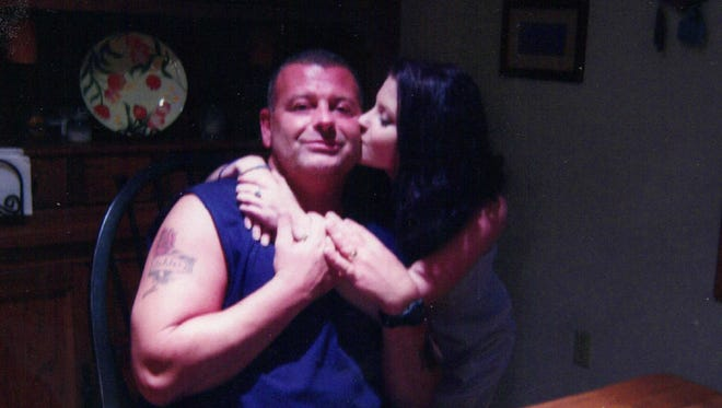 Nikki and her dad before she lost her life to heroin.