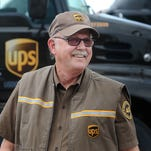 Dale Snyder, 75, has been working for UPS for more than 40 years and drives more than 500 miles a day.