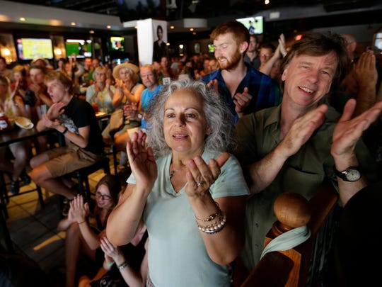 Fans enjoy a performance at The Bar during the Mile of Music festival this summer in Appleton.
