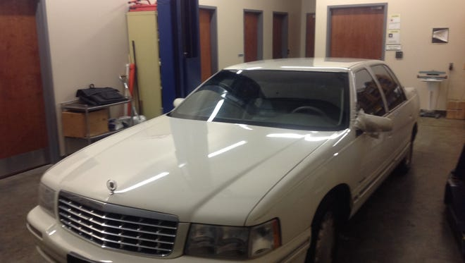 This car belonged to a murder victim in Oklahoma. Officials are searching for his killer.