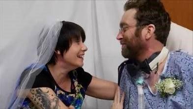 Jaken Kasper marries fiancee at St. Joseph's Hospital December 2014.